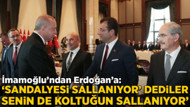 İmamoğlu'ndan Erdoğan'a: Senin de koltuğun sallanıyor