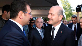 Adnan Menderes'i anma töreninde Soylu ve İmamoğlu tokalaştı