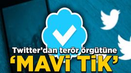 Twitter'dan terör örgütüne 'mavi tik'