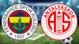 Fenerbahçe evinde Antalyaspor'a tek golle kaybetti
