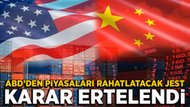 ABD, Çin'e gümrük tarifesi artışını askıya aldı