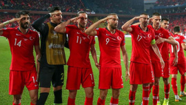 Türkiye -Arnavutluk maçından kareler