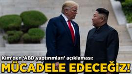 Kim'den 'ABD yaptırımları' açıklaması: Mücadele edeceğiz