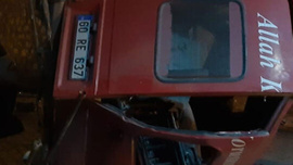 Minibüs şarampole devrildi