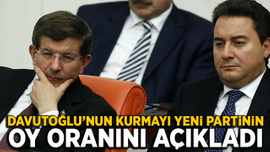 Davutoğlu'nun kurmayı yeni partinin oy oranını açıkladı