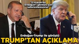 Erdoğan-Trump ile görüştü