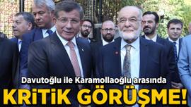 Davutoğlu ile Karamollaoğlu arasında kritik görüşme!