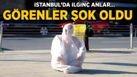İstanbul'da ilginç anlar: Görenler gözlerine inanamadı