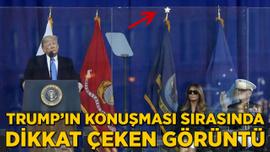 Trump'ın konuşması sırasında dikkat çeken görüntü