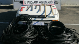 Jandarmadan kablo hırsızlarına operasyon: 3 gözaltı
