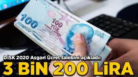 DİSK 2020 Asgari Ücret talebini açıkladı: 3 bin 200 lira