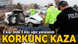 Kütahya'da korkunç kaza:  2 ölü 3 ağır yaralı