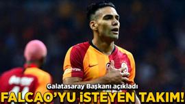Galatasaray Başkanı Cengiz, Falcao'yu isteyen takımı açıkladı