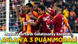 Muslera kurtardı Galatasaray kazandı