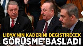 Türk ve Rus heyetlerinin Libya'da ateşkes için görüşmesi başladı