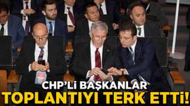 CHP'li başkanlar toplantıyı terk etti