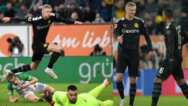 Dortmund'un yeni transferi Haaland oyuna girdi şov yaptı