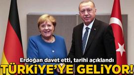 Erdoğan davet etti! Merkel'in Türkiye'ye geleceği tarih açıklandı