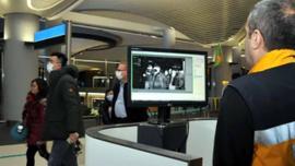 Havalimanı'nda 'Corona Virüs' için termal kameralı önlem