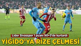 Lider Sivasspor 1 puanı 90+3'de kurtardı