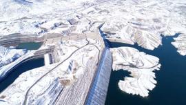 Ilısu Barajı'nda kar güzelliği