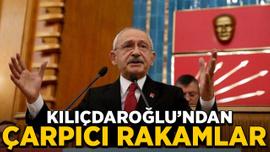 CHP Ankara Kongresi'nden konuşan KıIıçdaroğlu'ndan çarpıcı rakamlar