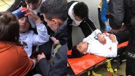 Öğrencilerin okul çıkışı kavgasında kan aktı