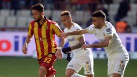 Yeni Malatyaspor sahasında Kayserispor ile 1-1 berabere kaldı