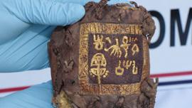 Diyarbakır'da ceylan derisine altın yazmalı kitap ele geçirildi