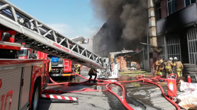 İkitelli'de fabrika yangını!