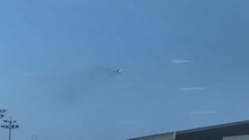 347 yolcu taşıyan uçak havada alev aldı