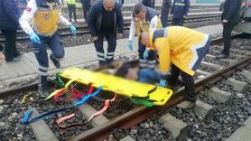 Tren raylarında feci kaza: 1 ölü