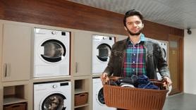 Mersin'de üniversite öğrencilerine 'çamaşır kafe' hizmeti