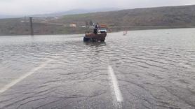 Siirt'te baraj suyu yükseldi, suda mahsur kalan 1 kişi kurtarıldı