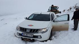 Sivas'ta mahsur kalan teknik ekip, 3 saatlik çalışmayla kurtarıldı