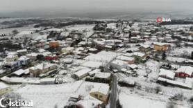 Kar, İstanbul'a Silivri'den giriş yaptı!