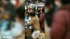 Çin'de marketlerde yağma başladı