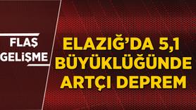 Elazığ'da 5.1'lik artçı deprem