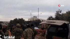 Esad rejimine ait helikopterin vurulma anı