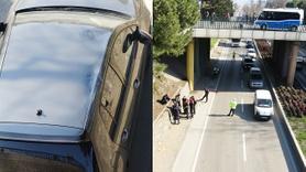 İntihar eden vatandaş hareket halindeki otomobilin üstüne düştü