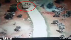 İdlib'de rejim tankını muhalifler ZPT ile böyle kovaladı