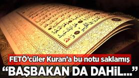 Şok eden not Kur'an-ı Kerim'in arasından çıktı!