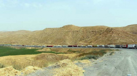 Cizre'de uzun araç konvoyu...