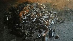 Toprağa gömülü 240 tabanca bulundu