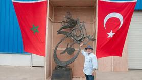 Tunuslu heykeltraştan Cumhurbaşkanı Erdoğan'a hediye
