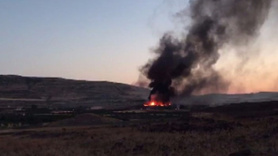 Askeri konteynerde yangın