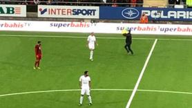 Galatasaray maçında skandal görüntüler