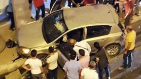 Kamyon trafikteki araçların arasına daldı! Yaralılar var