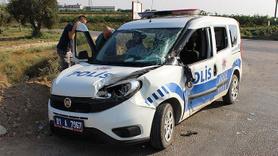 Polis aracı kamyon ile çarpıştı: 2 polis yaralı