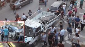 Şanlıurfa'da kamyon köprüden düştü